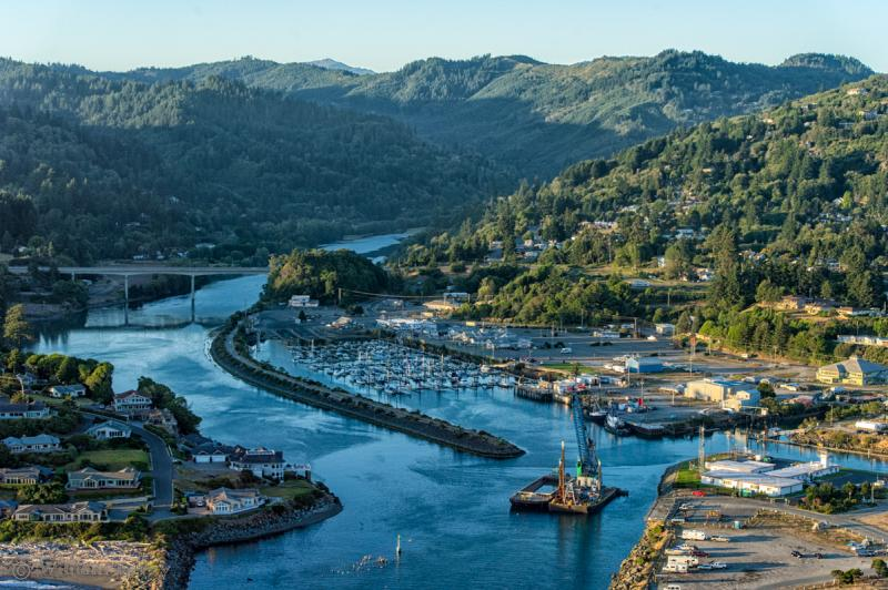 Brookings-Harbor Oregon from the air
